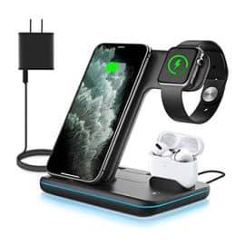 Incarcator wireless pentru iPhone, Airpods, Apple Watch.